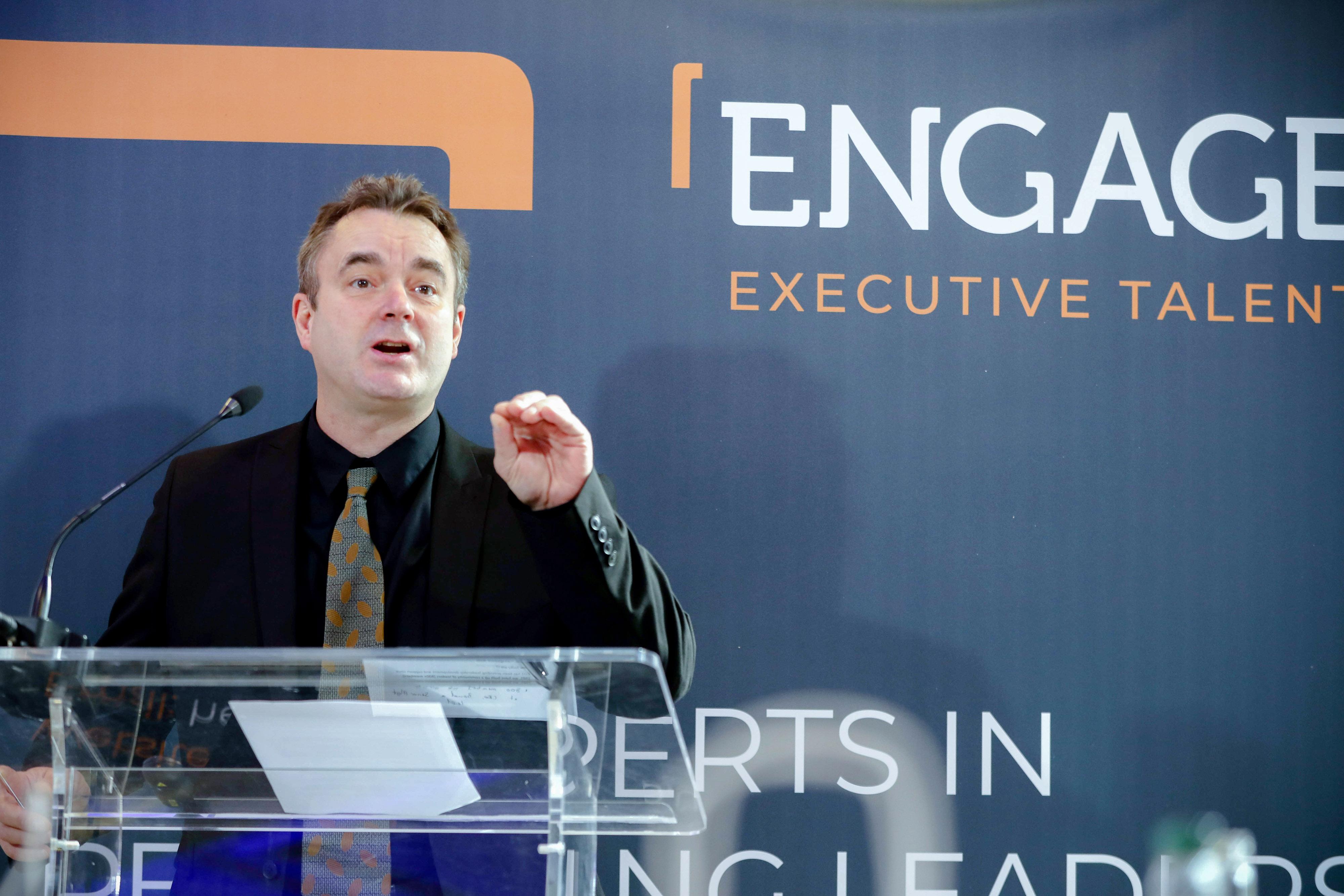 Patrick Minne addresses third sector leaders